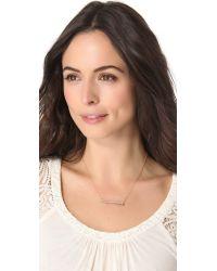 Jennifer Zeuner - Metallic Adored Necklace with Diamond - Lyst