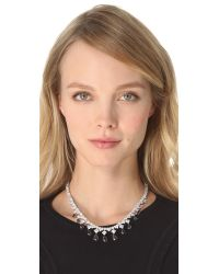 Kenneth Jay Lane - Metallic Draped Pear Drop Necklace - Lyst