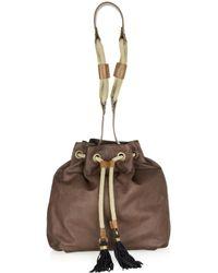 Lanvin | Brown Gaby Leather Bucket Bag | Lyst