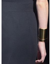 Lanvin | Metallic Oracle Brass Cuff | Lyst