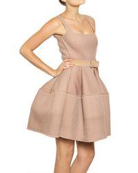 Lanvin | Pink Techno Net Baby Doll Dress | Lyst