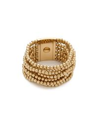 Michael Kors - Metallic Bead Turn Lock Bracelet - Lyst