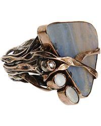 Sandra Dini - Metallic Diamond Opal Ring - Lyst