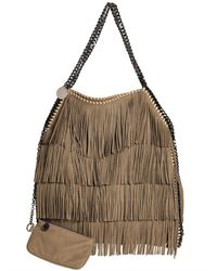 Lyst Stella Mccartney Large Falabella Fringed Faux Suede