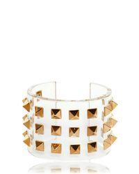 Valentino | Multicolor Studded Plexi Cuff Bracelet | Lyst