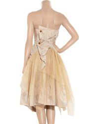Vivienne Westwood Gold Label - Metallic Bronze Silk-taffeta and Tulle Dress - Lyst