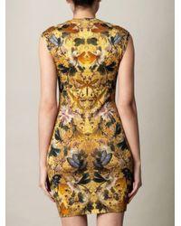 Alexander McQueen | Yellow Hummingbirdprint Dress | Lyst