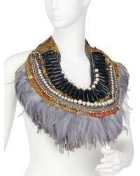 Anita Quansah London - Purple The Kazan Necklace - Lyst