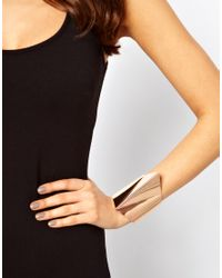 ASOS - Metallic 3d Triangle Cuff Bracelet - Lyst