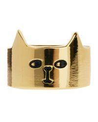 Lazy Oaf - Metallic Gold Cat Ring - Lyst