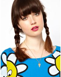 Lazy Oaf - Metallic Pizza Slice Necklace - Lyst