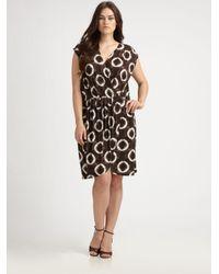 MICHAEL Michael Kors Black Tie-Dye Faux-Wrap Dress
