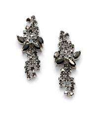 CZ by Kenneth Jay Lane - Black Mini Mosaic Crystal Earrings - Lyst