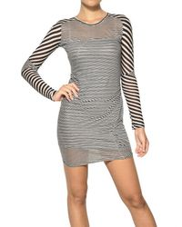 Étoile Isabel Marant | Black Easton Super Light Jersey Striped Dress in Charbon | Lyst