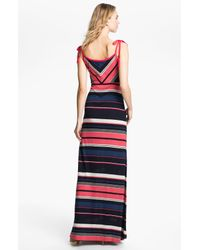 French Connection | Pink Stripe Maxi Dress | Lyst