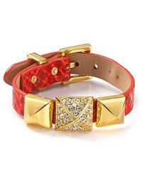 Juicy Couture - Orange Perfectly Gifted Pyramid Wrap Bracelet - Lyst