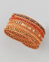 Nakamol | Red Beaded Wrap Bracelet | Lyst