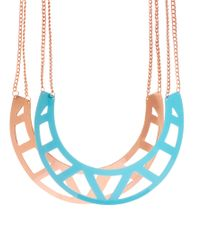 ASOS - Metallic Pack Of Two Cut Out Torque Necklaces - Lyst