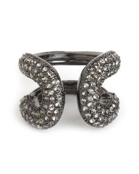 BaubleBar | Gray Pave Athena Ring | Lyst
