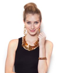 BaubleBar | Brown Resin Braque Necklace | Lyst