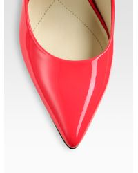 Boutique 9 | Red Justine Neon Patent Leather Pumps | Lyst