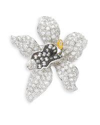 CZ by Kenneth Jay Lane - Purple Orchid Crystal Brooch - Lyst