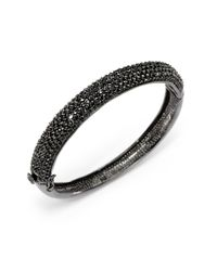 CZ by Kenneth Jay Lane - Black Crystal Oval Bracelet - Lyst