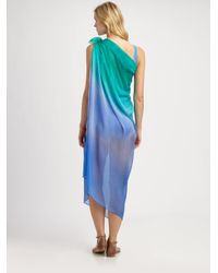 Gottex | Blue Silk Rainbow Goddess Pareo | Lyst
