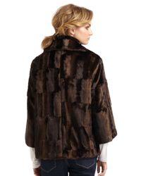 Tahari - Brown Tara Faux Fur Coat - Lyst