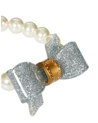Ted Baker | Metallic Bow and Pearl Bracelet | Lyst