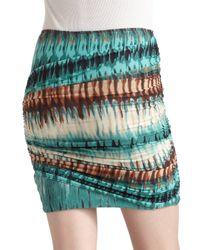 Torn By Ronny Kobo - Multicolor Twist Mini Skirt - Lyst