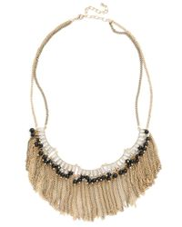 ModCloth | Metallic Crystal Ballroom Necklace | Lyst