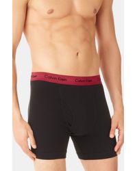 Calvin Klein | Red Stretch Cotton Boxer Briefs 2pack for Men | Lyst