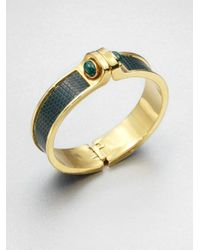 Kara Ross - Green Malachite Lizard Cuff Bracelet - Lyst