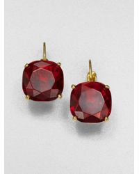 kate spade new york | Red Faceted Square Earrings | Lyst