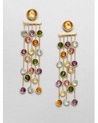 Marco Bicego - Metallic Mini Jaipur Semi-precious Multi-stone & 18k Yellow Gold Five-strand Drop Earrings - Lyst