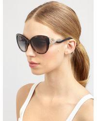 Roberto Cavalli - White Kurumba Glam Cat's Eye Crystal Snake Sunglasses - Lyst
