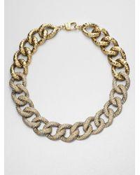 St. John - Metallic Antique Chain Necklace - Lyst