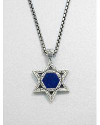 Stephen Webster | Metallic Sterling Lapis Star Pendant Necklace for Men | Lyst