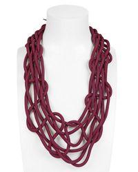 Alienina - Purple Climbing Web Necklace - Lyst