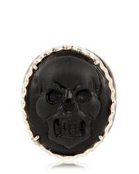 Amedeo - Black Skull Ring for Men - Lyst
