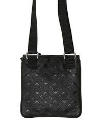 Armani Jeans | Black All Over Logo Eco Leather Bag for Men | Lyst