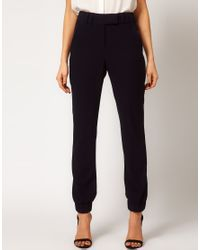 ASOS Collection   White Trousers with Cuff Hem   Lyst