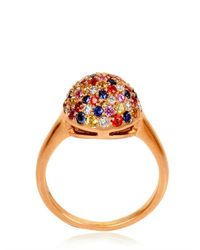 Carolina Bucci - Multicolor Pavè Button Rainbow Ring - Lyst