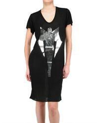 Gareth Pugh - Black Limit.ed Androgynous Print Jersey T-shirt Dress - Lyst