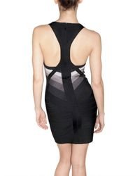 Hervé Léger | Black Gradient Bandage Dress | Lyst
