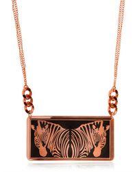 Hirschell | Pink Zèbre 1 Double Cuivre Necklace | Lyst