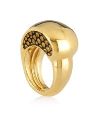 Kara Ross | Metallic Goldplated Lizarddetailed Ring | Lyst