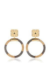 Ledaotto - Metallic Taj Mahal Earrings - Lyst