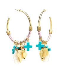 Lizzie Fortunato | Metallic Soul Town Hoop Earrings | Lyst